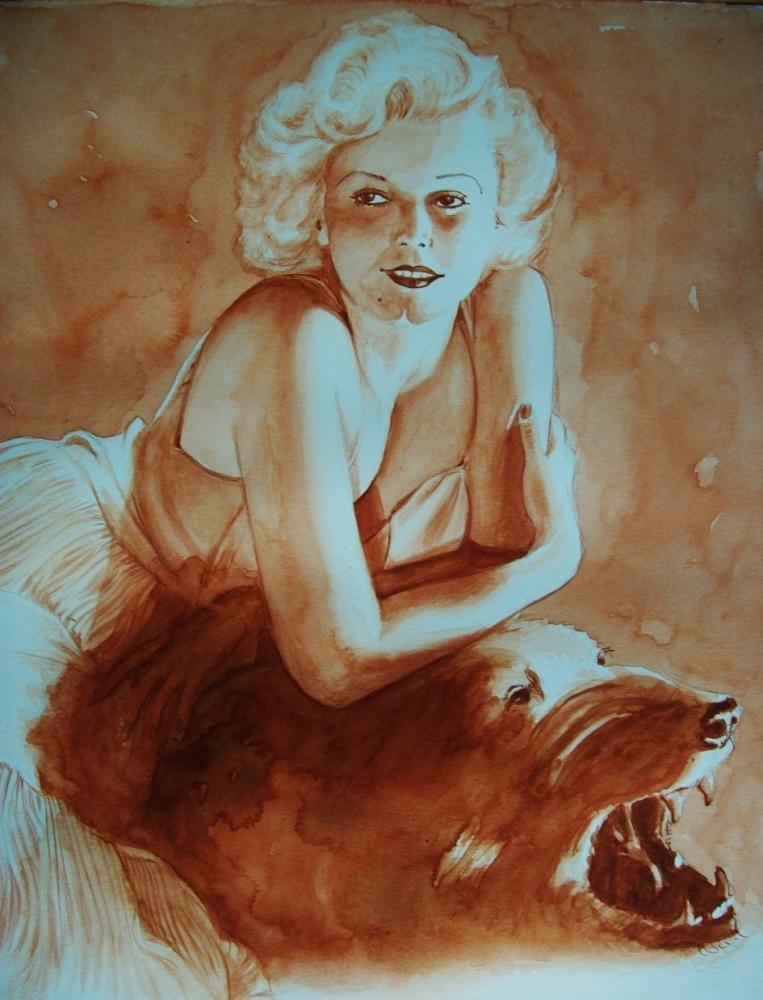 Jean Harlow by Tom-Heyburn